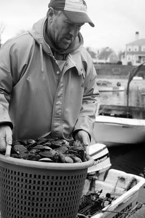 Edgartown Harbor, Clinton Fisher, scallop fishermen, fog