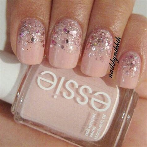 25  best ideas about Pink Glitter Nails on Pinterest