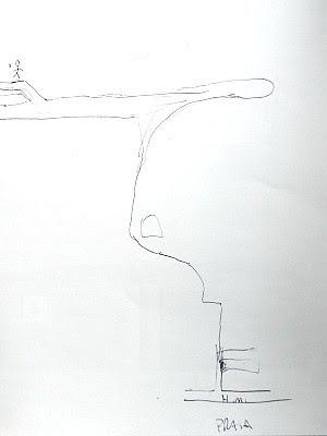 Ex-namorado desenho em papel o trajeto que fez com o corpo da jovem no Espírito Santo. (Foto: Bernardo Coutinho/ Jornal A Gazeta)