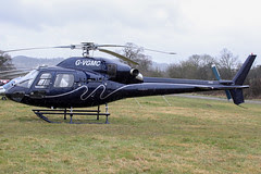 G-VGMC - 2001 build Eurocopter AS355N Ecureuil II, at the 2013 Cheltenham Festival