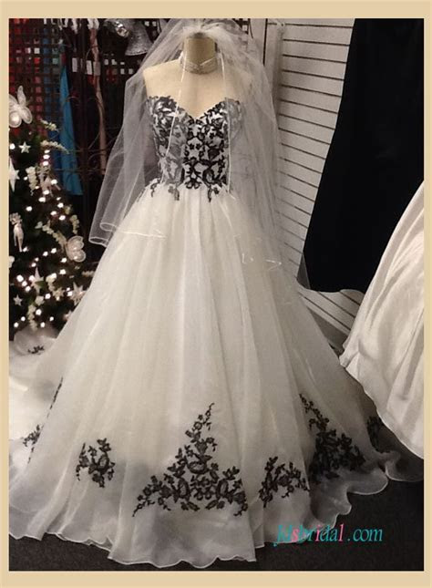 Black and White Colored wedding Dresses online,black