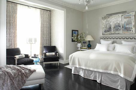 Elegant Bedroom Interior Design in Black and White