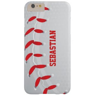Baseball Personalized Barely There iPhone 6 Plus Case