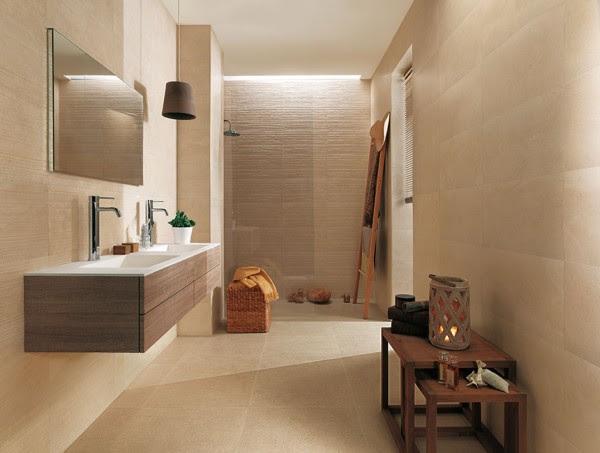 Beige bathroom decor