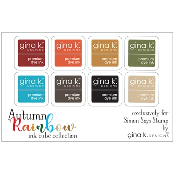 Gina K Designs AUTUMN RAINBOW Premium Dye Ink Cube Collection 1233