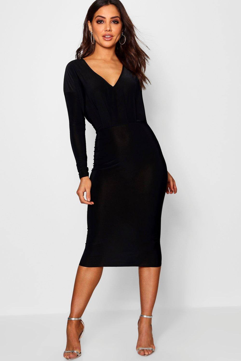 Collection websites bodycon midi dress with side split red plus size