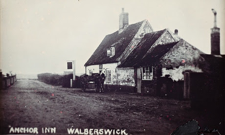 An old postcard of the Anchor Inn, Walberswick
