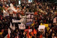 Una de las protestas en  contra de los altos precios. Foto: AP