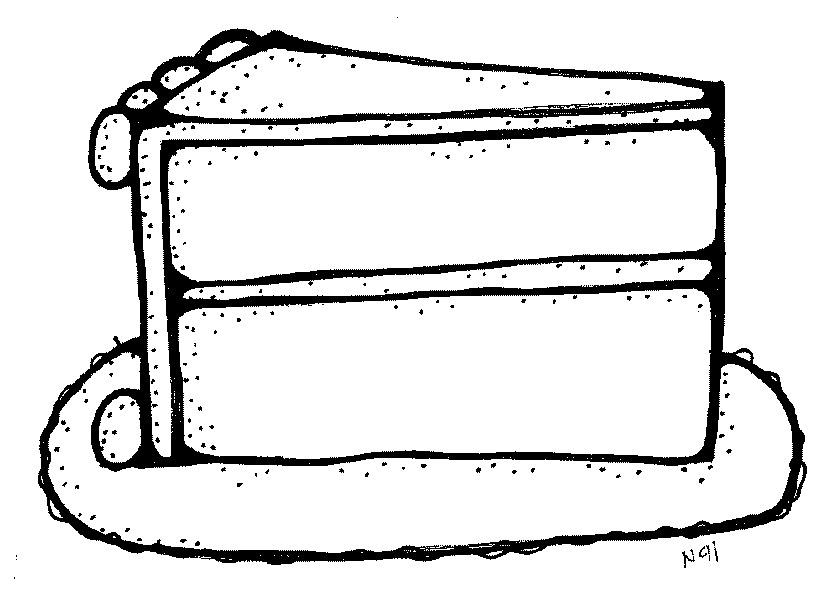 Black And White Clipart Cake 10 Free Cliparts Download