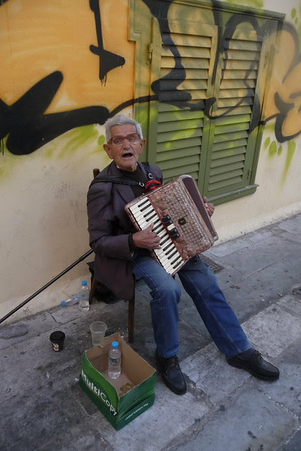 Old man with Accordion