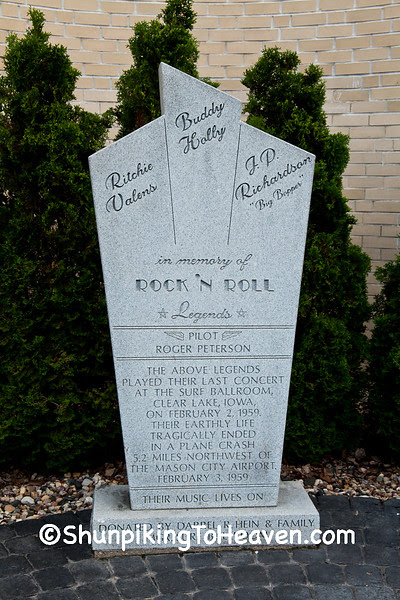 Monument to Rock 'n Roll Legends at the Surf Ballroom, Clear Lake, Iowa