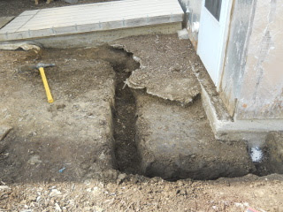 Another Angle of First Part of Root Cellar/Storm Shelter Footer Dug Out