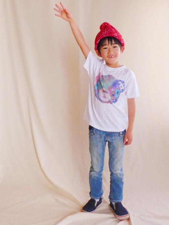 MotokoTakaheiオリジナルTシャツ【くま】90~130