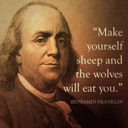 make yourselves sheep