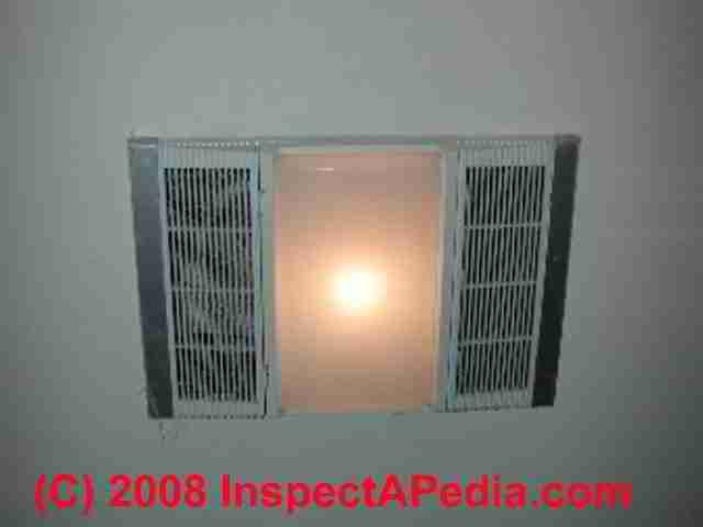 Bathroom Fan Light Vent