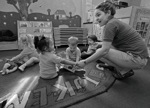 "Cherry Blossoms Learning Center teacher leads toddlers in play and in learning by connecting both verbally and physically in attempt to seeing their world through their eyes. According to the Early Learning Coalition of Miami-Dade/Monroe: ""Nurturing is vital to children's development, a secret ingredient that enables children to grow physically, socially and emotionally. The bridge between school and home is vital to the process."""
