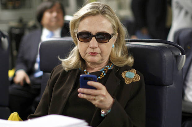 Image result for hillary clinton on phone
