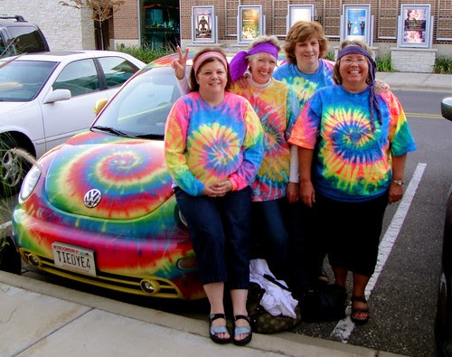 "4 ladies on their way to see ""Taking Woodstock"""