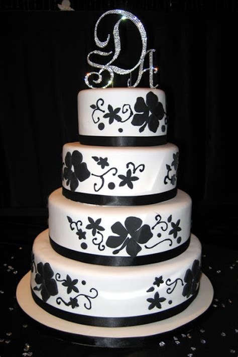 Amazing Black And White Wedding Cakes [40 Pic] ~ Awesome