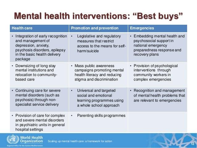 mental health interventions   Mental Health Tips