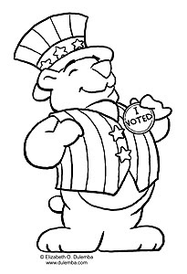 dulemba: Coloring Page Tuesday - eBeary Vote Counts!