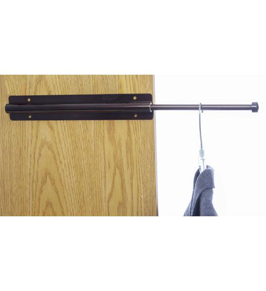 Sliding Closet Valet Rod - Bronze in Closet Valets
