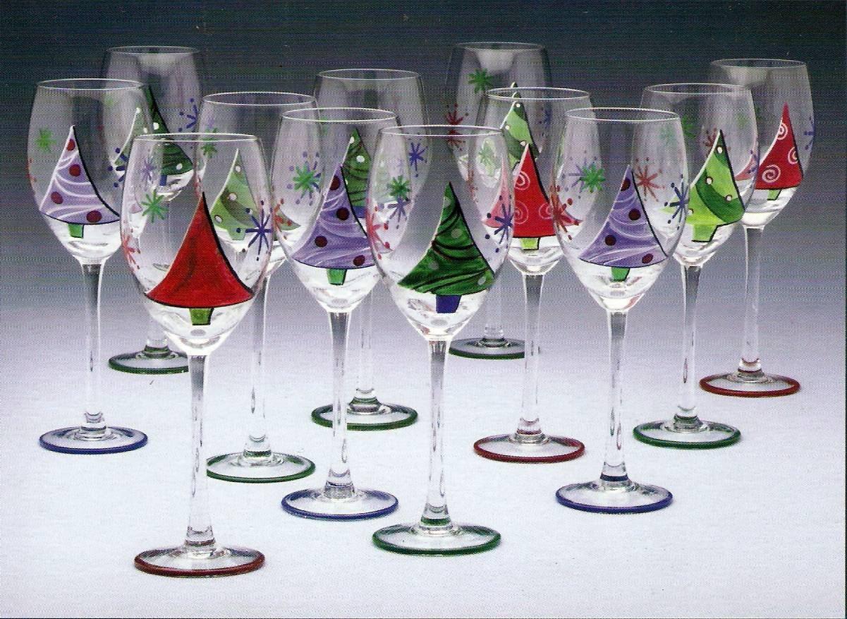Christmas Tree Wine Glasses | Christmas Wikii