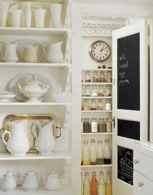 Love this pantry! I'm a sucker for chalkboards by antoinette