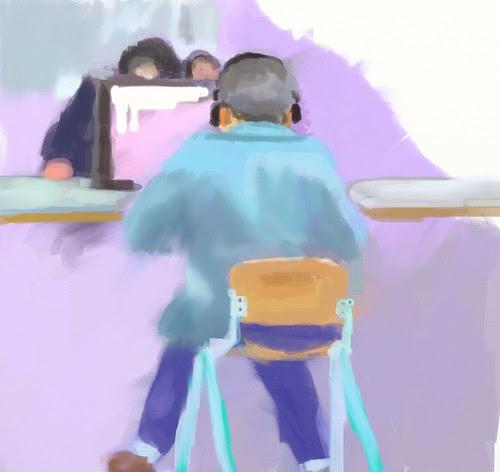old man play computer by zhongnaomi