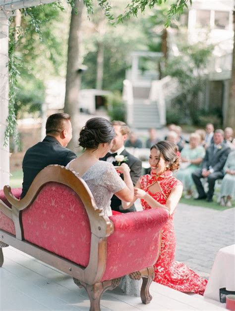 Georgia wedding with a traditional Chinese tea ceremony