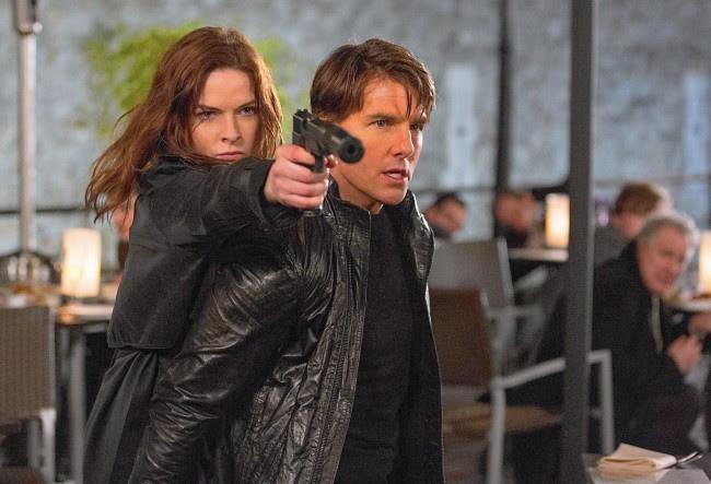 Rebecca Ferguson y Tom Cruise