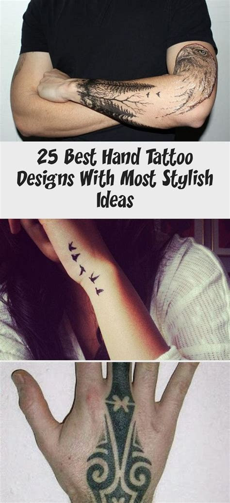 hand tattoo designs stylish ideas