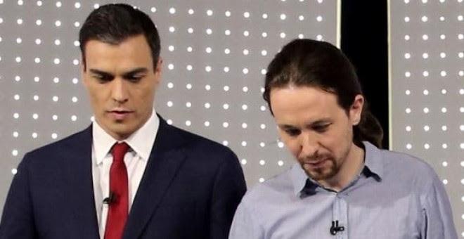 Pedro Sánchez y Pablo Iglesias. // LA SEXTA