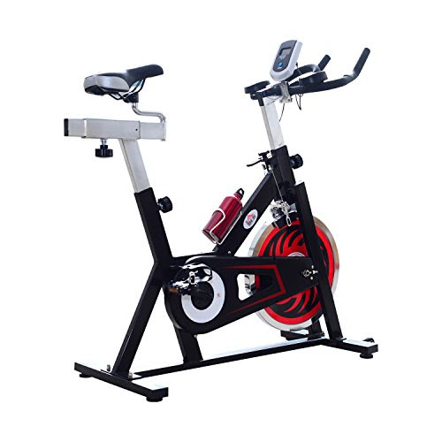 HOMCOM Exercise Bike Trainer Indoor Racing Machine Bicycle Aerobic Training Cycling Resistance Cardio Home Fitness Equipment Workout w/ LCD