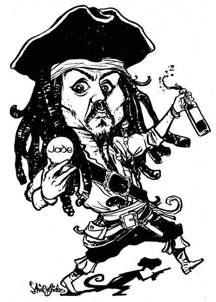 Johnny Depp Jack Sparrow Karikatur Caricature