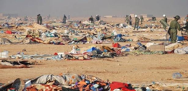 Forças marroquinas desmontam acampamento de refugiados no Saara Ocidental