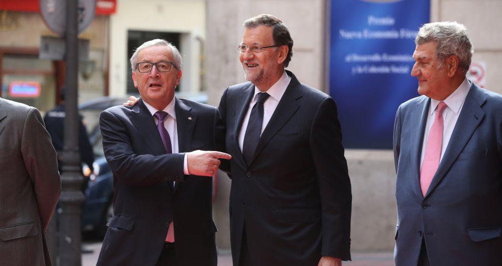 Jean-Claude Junker con el presidente Mariano Rajoy, en Madrid en octubre de 2015.