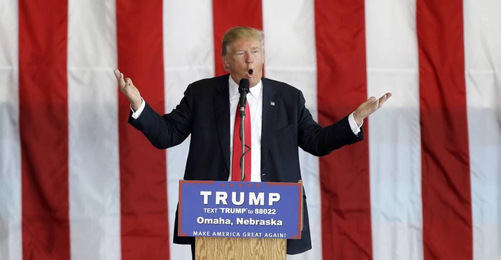 O candidato republicano Donald Trump.
