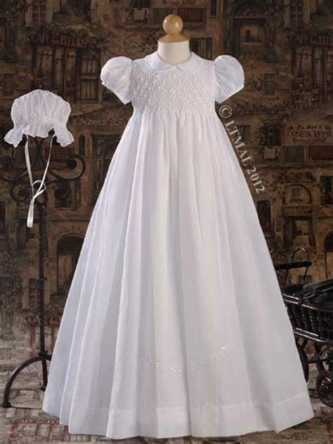 Hand Smocked 32? Heirloom Christening Gown