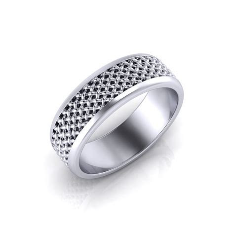 Men's Mesh Wedding Ring   Jewelry Designs