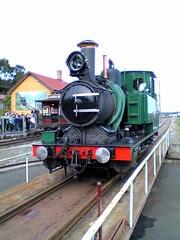 Abt locomotive on turntable