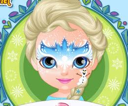 Bebek Barbie Karlar ülkesi Yüz Boyama Oyna