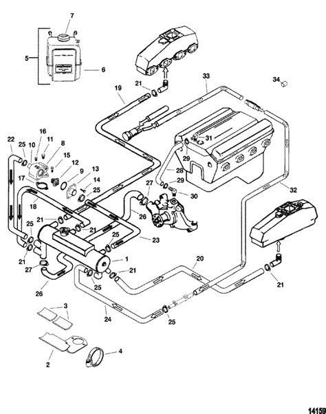 MerCruiser 5.0L EFI GM 305 V-8 1999-2001 Closed Cooling