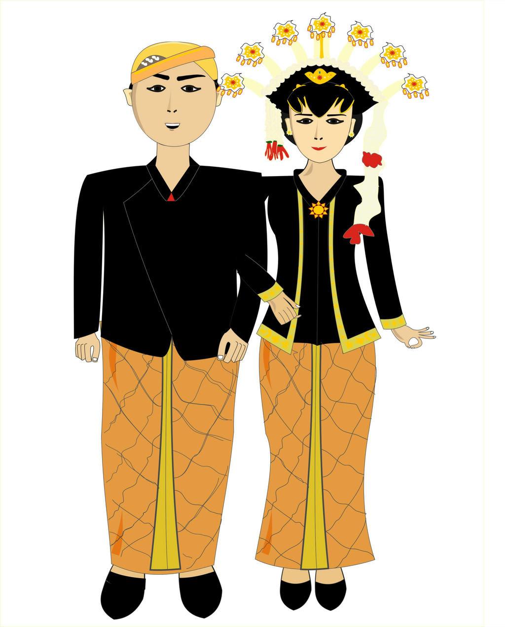 Kumpulan Sketsa Gambar Baju Adat Jawa Tengah