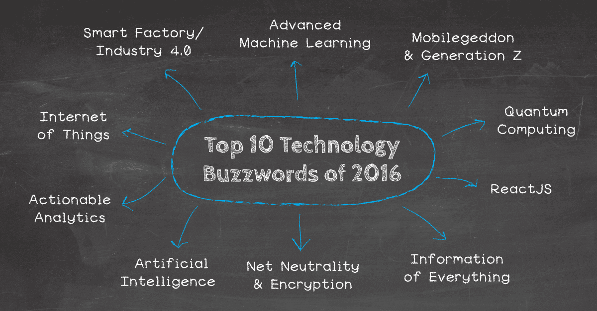 top 10 technology buzzwords of 2016