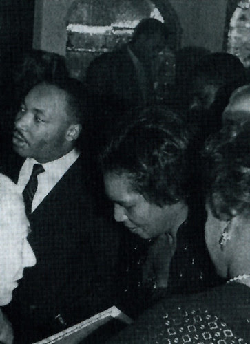 Claudia Jones with Dr. Martin Luther King, Jr. in Britain. Jones, a leading organizer and theoretician, was deported from the U.S. to Britain in 1955. She died in 1964 in the UK. by Pan-African News Wire File Photos