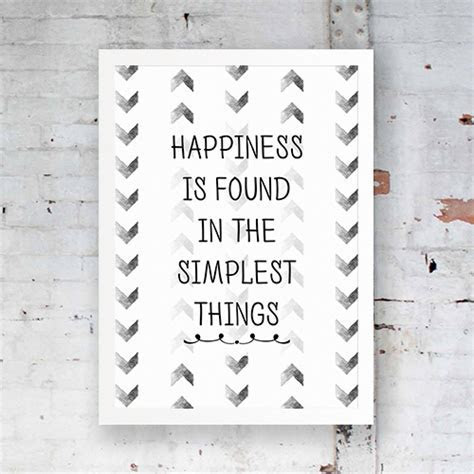 Inspirational Poster, Happiness is found in the simplest