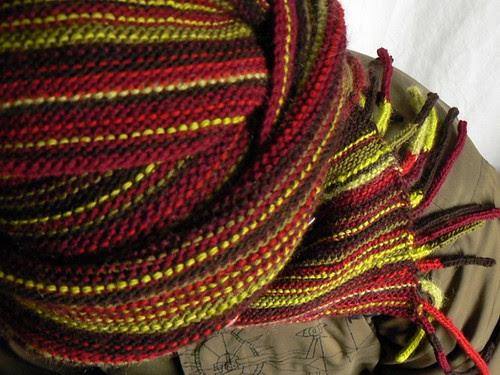 stripy scarf turban