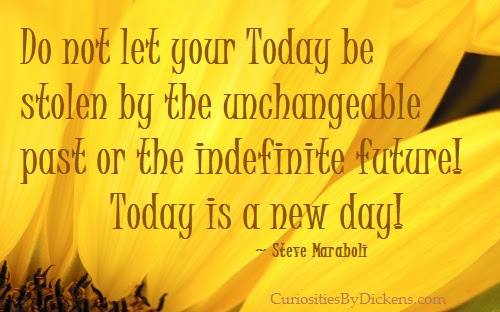 Do Not Let Your Today Be Stolen By The Unchangeable Past Or The