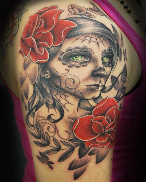 sugar skull girl tattoo joshing deviantart